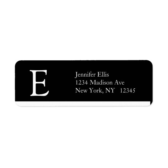 Elegant Simple Address Labels Monogram E