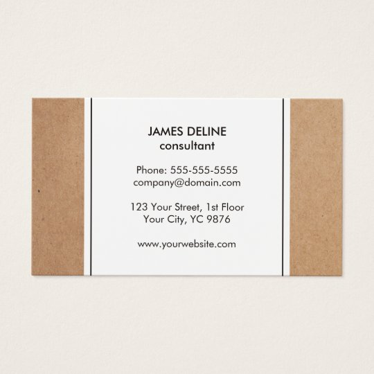 Elegant Simple Cardboard White Consultant Business Card