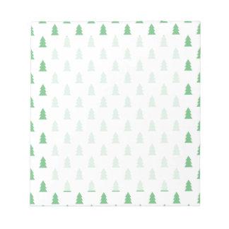 Elegant Simple Christmas tree pattern pastel green Notepad