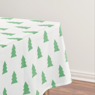 Elegant Simple Christmas tree pattern pastel green Tablecloth
