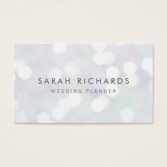 Elegant Simple Event Planner Bokeh Pattern Business Card