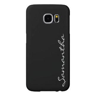 elegant simple modern chic trendy monogram black samsung galaxy s6 cases