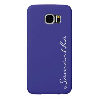 elegant simple modern chic trendy monogram blue samsung galaxy s6 cases
