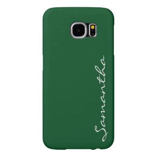 elegant simple modern chic trendy monogram green samsung galaxy s6 cases