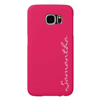 elegant simple modern chic trendy monogram pink samsung galaxy s6 cases