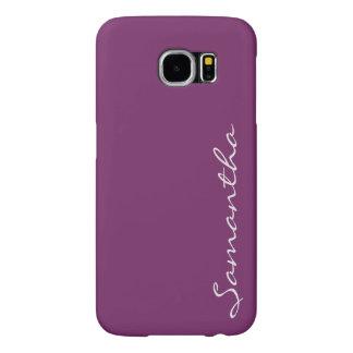 elegant simple modern chic trendy monogram purple samsung galaxy s6 cases