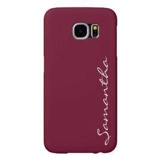 elegant simple modern chic trendy monogram red samsung galaxy s6 cases