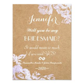 Elegant Simple Modern Rose Floral Faux Silver 11 Cm X 14 Cm Invitation Card