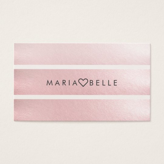 Elegant simple pink white faux foil striped chic