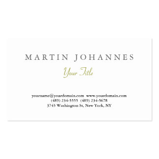 Elegant Simple Plain Artistic Business Card