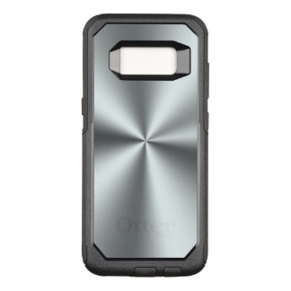 Elegant Simple Shiny Silver Gray Metallic OtterBox Commuter Samsung Galaxy S8 Case