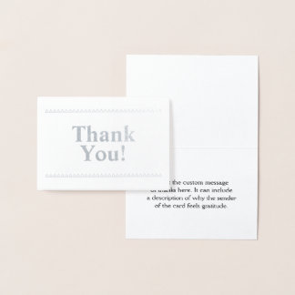 "Elegant, Simple ""Thank You!"" Card"