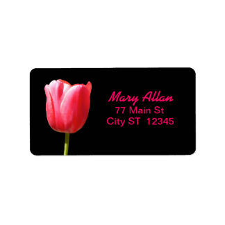 Elegant Single Tulip Bloom Label