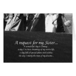 Elegant Sister Matron of Honour Request Card