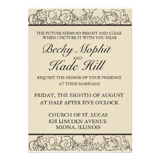 Elegant Skull Invitation