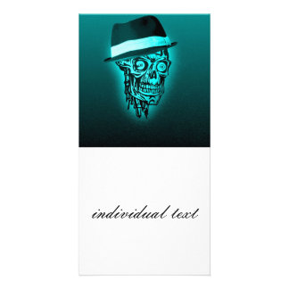 elegant skull with hat,mint (C) Photo Card