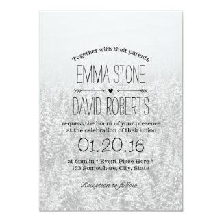 Elegant Snow Forest Winter Wedding 5x7 Paper Invitation Card