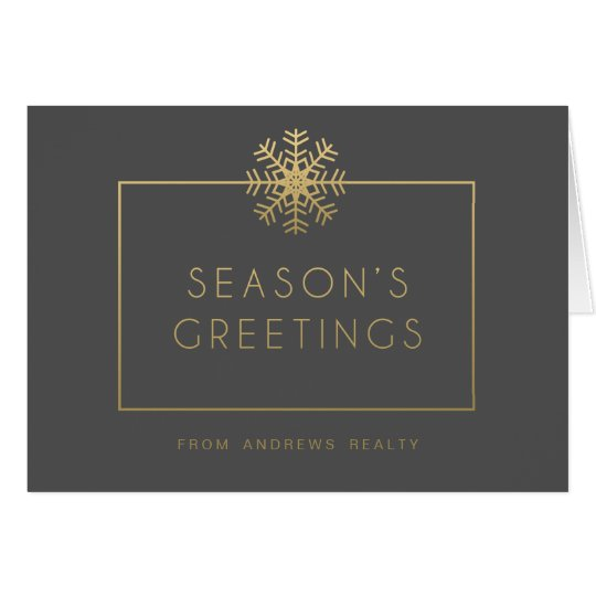 Elegant Snowflake Business Holiday Greeting Card