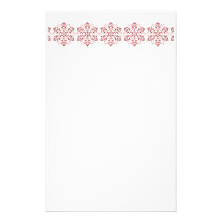 Elegant Snowflake Christmas Stationery