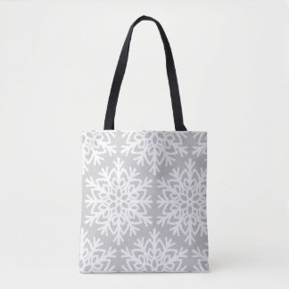 Elegant Snowflake Pattern Tote Bag