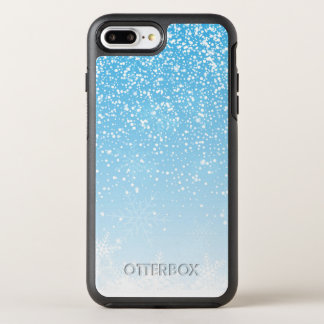 Elegant Snowflakes Blue Background | Phone Case