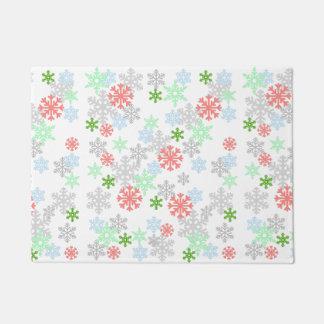Elegant Snowflakes Doormat