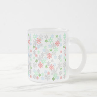 Elegant Snowflakes Frosted Glass Mug