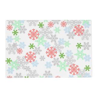 Elegant Snowflakes Laminated Placemat