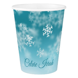 Elegant Snowflakes Personalized | Paper Cups