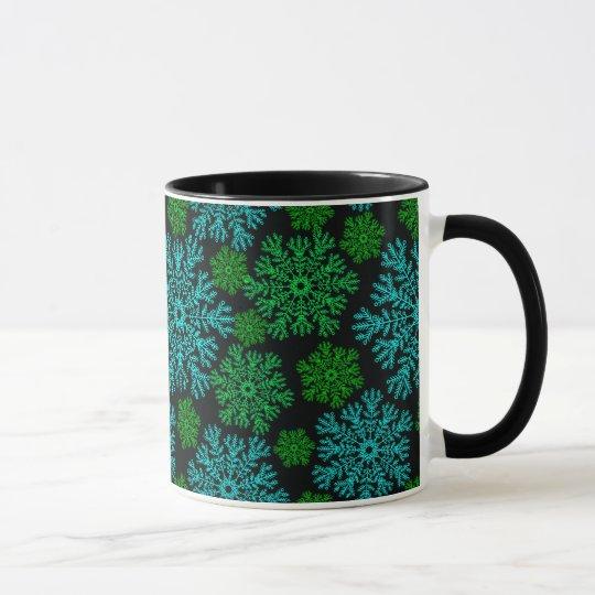 Elegant Snowflakes Winter Pattern Mug