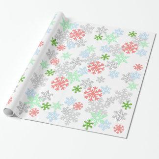 Elegant Snowflakes Wrapping Paper