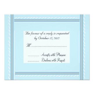 Elegant Soft Blue Wedding Reply Announcements