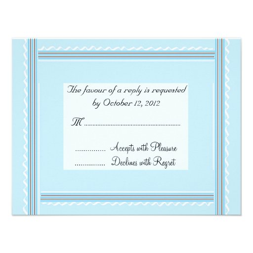 Elegant Soft Blue Wedding Reply Announcements