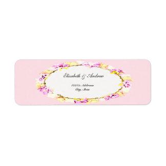 elegant soft flower floral label return address label