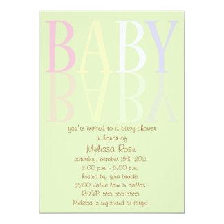 """Elegant, Soft Reflection Baby Shower Invites 5"""" X 7"""" Invitation Card"""
