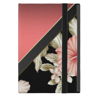 Elegant Sophisticated Coral Red -Flowers Cover For iPad Mini
