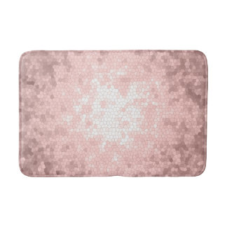 elegant sophisticated girly rose gold pattern bath mat