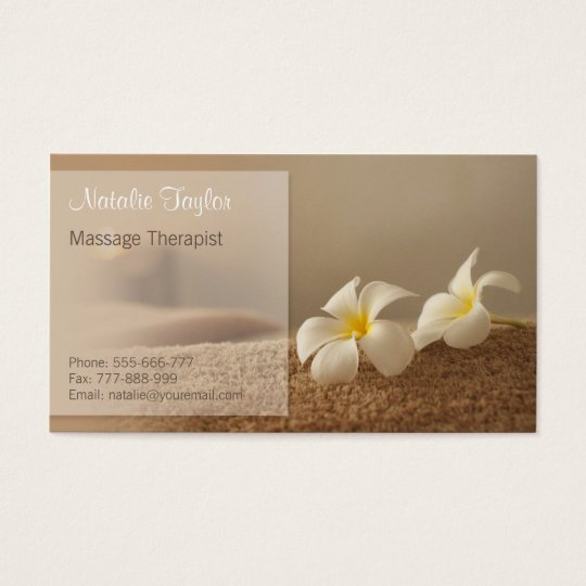 Elegant Spa and Wellness Therapist Business Cards