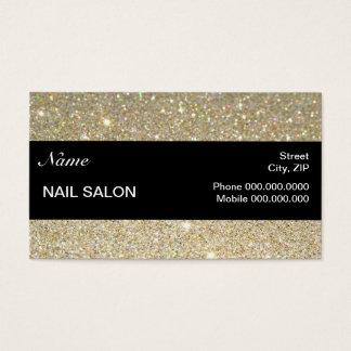 elegant Sparkles & Glitter Nail Salon BusinessCard