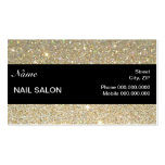 elegant Sparkles & Glitter Nail Salon BusinessCard Business Card Templates