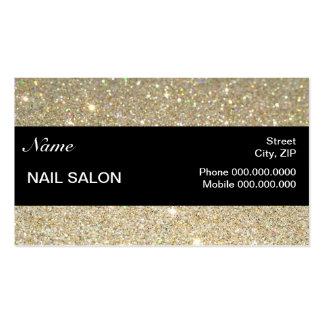 elegant Sparkles & Glitter Nail Salon BusinessCard Pack Of Standard Business Cards