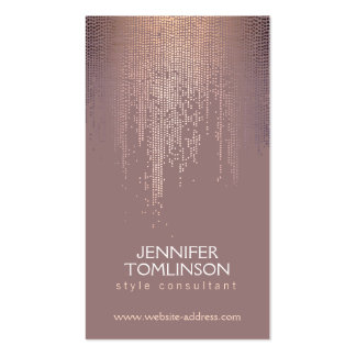 Elegant Sparkling Dot Pattern in Blush Double-Sided Standard Business Cards (Pack Of 100)