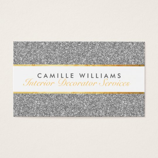 ELEGANT sparkly glamourous gold foil glitter Business Card