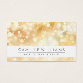 ELEGANT SPARKLY LIGHT whimsical golden bokeh Business Card