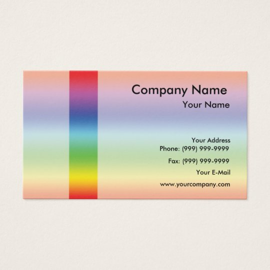 Elegant spectrum business card