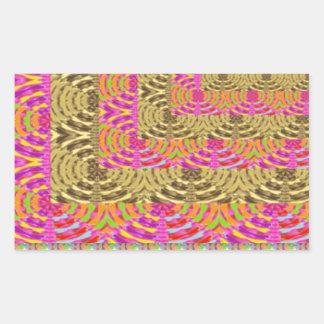 ELEGANT Spiral Diamond Waves in Layers Rectangular Sticker