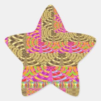 ELEGANT Spiral Diamond Waves in Layers Star Sticker