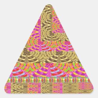 ELEGANT Spiral Diamond Waves in Layers Triangle Sticker