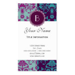 Elegant Split Damask Pattern with Monogram