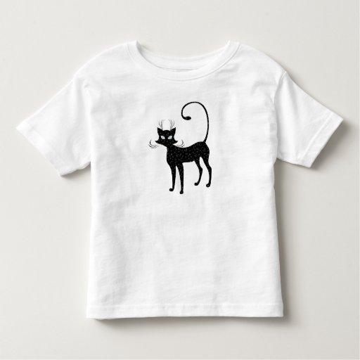 Elegant Spotted Black Cat Toddler T-Shirt
